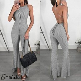 c1f32d714d82 Sexy Women Clubwear Sleeveless Playsuit Bandage Bodysuit Party Jumpsuit  Backless Romper Long Trousers
