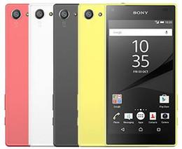 Xperia compact on-line-Original sony xperia z5 compacto e5823 android 2 gb ram 32 gb rom Octa Núcleo 23MP 1080 P SIM Único GSM Desbloqueado telefone recondicionado