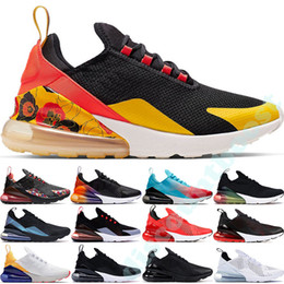 Argentina 2019 Nike Air Max 270 CNY Throwback Future Cushion Hombre Mujer Zapatillas Sport Designer Philippines Floral Triple Negro Blanco petardo zapatillas 36-45 Suministro