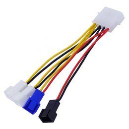 controlador de control de temperatura Rebajas 4channels PC Cooler Controlador de velocidad del viento para caja Procesador HDD VGA Ventilador para PCI Regulación de temperatura en control 5V 7V 12V 3pin