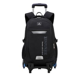wheeled trolley backpacks Coupons - Children School Bags For Kids Boys Trolley Schoolbag Rolling Luggage Book Bags Wheeled Backpack Travel Bagpack Trolley Backpack