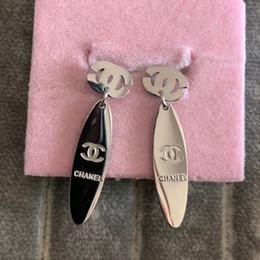 joyería de titanio de alta calidad Rebajas Nunca se desvanezca Alta calidad Diseño de moda marca titanium acero rosa plata oro diamante boda pendientes para mujeres niñas amantes de la joyería de verano