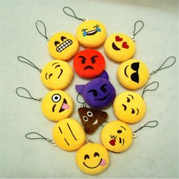 Emoji Portachiavi Peluche 5cm Emoji Sorriso Piccolo portachiavi Emozione Espressione QQ Peluche ripiene Doll Toy per Mobile Pendant DHL Free da