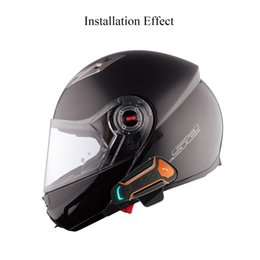 motorrad hände frei Rabatt 1 stücke bluetooth helm anti-interferenz für motorradhelm reiten freisprecheinrichtung kopfhörer motorrad bluetooth intercom
