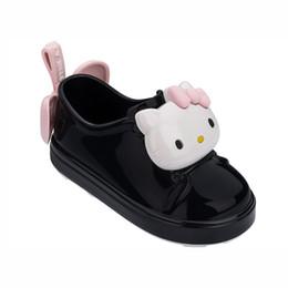 sapatos olá Desconto Mini Melissa 2019 Hello Kitty meninas das sandálias da geléia Meninas Sandals Crianças Sapatos Melissa Crianças Sandals respirável Y19051403