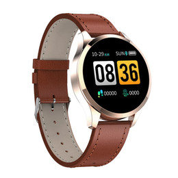 Taxas de iphone on-line-Q9 relógio inteligente chamada Waterproof mensagem lembrete Smartwatch homens Heart Rate Monitor Moda de Fitness Tracker for Cell Phone iPhone Android