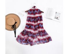 Новый платок из шифона с шарфом с принтом и серпантиновым пляжным полотенцем в Европе и Америке от Поставщики шифон платье для новорожденных