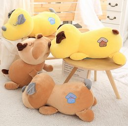 Peluches para perros, juguetes de peluche para perros, almohadas, cachorros, muñecas, perrito, abrazar, fiesta, decoraciones de coches, regalos, para niños, amarillo, gris, 10