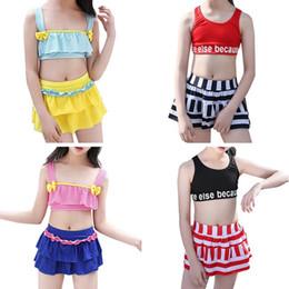 98fbcb4a9f30f Children s Split Swimsuit Bikini Beach Swimwear Girl Children Swimwear Two  Pieces Swimming Suit for Girls Kids Bathing Suit