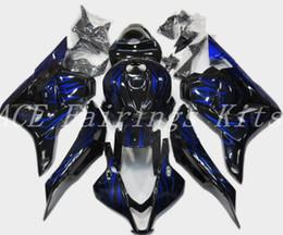 3 regalos gratis Nueva ABS motocicleta Kits de carenados aptos para HONDA CBR600RR F5 2009 2012 09-12 CBR600RR F5 conjunto de carrocería personalizado Carenado azul llama desde fabricantes