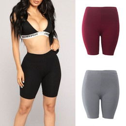 2019 calções de moda Moda nova senhora das mulheres casual fitness meia cintura alta quick dry shorts de bicicleta magros 3 cores de alta qualidade desconto calções de moda