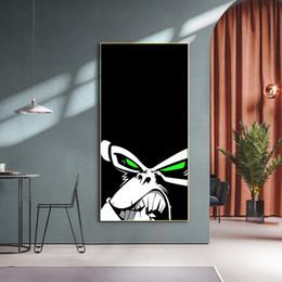 2020 pinturas de arte abstrata para crianças Pinturas Aquarela macaco irritado Wall Art Impressão em Canvas Abstract Animals Art Canvas Wall Decor Pictures For Kids quarto pinturas de arte abstrata para crianças barato