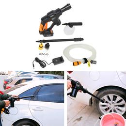 2020 pistola de agua eléctrica 0.9MPa 12V de alta presión Pistola de lavado de coches con espuma Pot largo del tubo de agua varilla eléctrica pistola de agua de limpieza inalámbrico manchas de suciedad de polvo pistola de agua eléctrica baratos