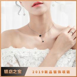 2019 silberne schmuckentwürfe New Explosion Designer Designs Einfache Halskette im europäischen und amerikanischen Stil Kreative Schlüsselbeinkette Student Round Jewelry Female Necklace günstig silberne schmuckentwürfe
