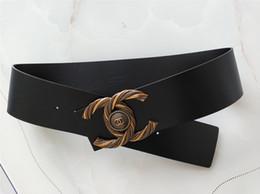 Canada Marque dame ceinture design de mode grande boucle doré boucle boucle ceinture noir et rouge corps avec 7cm haute qualité classique dame accessoires A3567 Offre