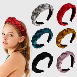 Samt süß online-Velvet Twist Hair Sticks Frauen Netter Knoten Stirnband Lady Travel Solid Color Headwear Mädchen Party Haarschmuck TTA1567