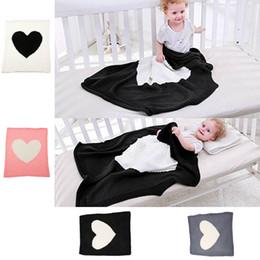 wolldecken Rabatt Babydecke Kinder Klimaanlage Decke Baby Mädchen Stricken Wolle Quilt Solid Love Kinder Sofa Weiche Decke 6