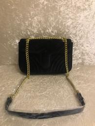 2018 ТОП Мода черная цепочка косметичка известная роскошная вечеринка сумка Marmont бархатная сумка Женщины дизайнерские сумки Бесплатная доставка # 5118 от