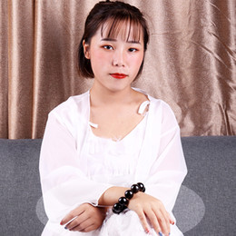 2019 collana di ambra nera ambra nera collane bracciali sfera di stile cinese Chen Wan Myanmaramber modelli doni paio ciondolo Cina di vendita di Natale collana di ambra nera economici