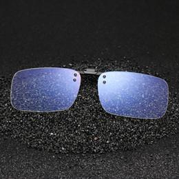 2019 klarer clip blau Anti Blue Light Brille Frauen Männer Clip auf Brillen Klar Computer Telefon Blue-ray Eyewear Mode Clip Flip up Brille rabatt klarer clip blau