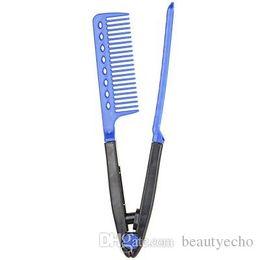 2019 escovas de cabelo dobráveis Salão de Cabeleireiro V Pentear Alisador de Cabelo Styling Escova de Cabelo Ferramentas de Estilo Escova DIY Salon Folding Hairbrush Cabeleireiro Make Up Tools + B escovas de cabelo dobráveis barato