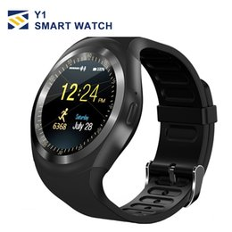 Assiste telefone on-line-U1 y1 smart watchs smartwatch telefone celular relógio bluetooth câmera remota para android apple iphone com u8 dz09 gt08