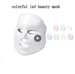Colorido Led Beauty Therapy Mask Light Máscara Facial Therapy Photon Led Facial Mask Cuidados com a pele coreana Aperto de pele de Fornecedores de máscaras eva