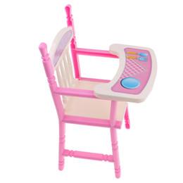 Niños recién nacidos online-Dollhouse Toddler Dining Chair Baby Doll Silla alta para muebles de renacimiento de 9-11 '