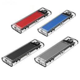 lenovo caso alumínio Desconto externa transparente Disco Rígido USB3.1 Gen2 Type-c M.2 NVMe SSD HDD Enclosures até 2TB 2230 2242 2260 para PC Phone