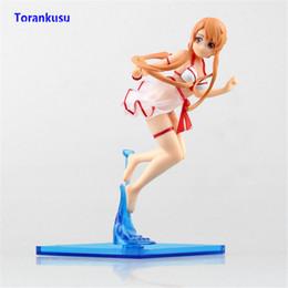 Boneca em linha do sexo para o homem on-line-Espada Art Online Figura de Ação Yuuki Asuna Figura Swimsuit Ver. Sexy Anime Menina Presente Brinquedos Para Homens Boneca Figuras PVC Sexo Modelo XP