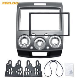 ford dash kit Desconto FEELDO 2DIN Carro Cinza Reequipamento Estéreo DVD Quadro Fascia Painel de Instrumentos de Instalação para Ford Everest / Ranger / Mazda BT-50 # 1677