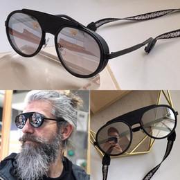 Sonnenbrille seil online-Neue Art und Weise Frauen 2210 Designer-Sonnenbrille mit Seil Farbe beschichtete Linse Avantgarde runden Retro-Rahmen Stil uv400 Linse Top-Qualität Pop