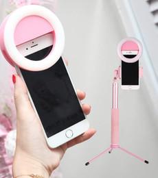 2019 selfie colle rose Selfie à distance sans fil extensible avec trépied et lumière compatible pour iPhone ou Samsung et autre smartphone (rose) promotion selfie colle rose