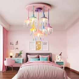 Macaron sweet color candle chandelier restaurant lamp bedroom lamp children  s room girl princess home decoration lamps.