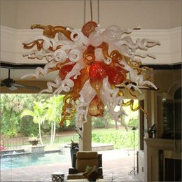 switch suppliers Promo Codes - China Supplier Colored Hand Blown Glass pendant light Many colors available New design customized color glass chandeliers lamp lighting