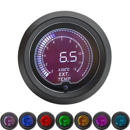 Affichage à cristaux liquides de Digital 7 de couleur d'affichage à cristaux liquides de jauge EGT de mesure de la température de gaz d'échappement de 52mm avec la sonde ? partir de fabricateur