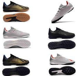 Nuove scarpe da calcio basse da uomo originali X19 .3 Tf alla caviglia Scarpe sportive rosse di alta qualità X Tango 19 .3 Ic Tf scarpe da calcio 2019 da