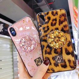 Nouveau LUXURY bling époxy cas de téléphone avec support de téléphone pour iPhone 6 6S 7 8 Plus cas de téléphone 3d DHL gratuit ? partir de fabricateur