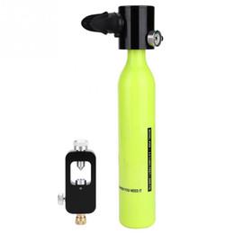 Conjunto de oxigênio on-line-Cilindro De Oxigênio Portátil Mergulho Conjunto Natação Subaquática Respirar Scuba Tanque Recarga Adaptador Equipamento De Mergulho