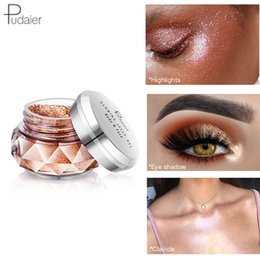 2019 крем палитры теней для век PUDAIER Dreamland Set Jelly Highlights  Glitter Eyeshadow  Palette Beauty Glazed Shimmer Beauty Gel Cream дешево крем палитры теней для век