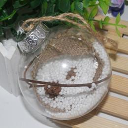 palle di albero di plastica Sconti Decorazioni per la casa Santa Trasparente Bauble Ornament Gift Trasparente Ball per decorazioni natalizie Romantica palla di plastica per albero di Natale BH0385