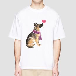 Canada berger allemand t-shirt hommes été top drôle drôle t-shirt mode cool t-shirt col en V TShirts pour homme Top Tees MR3363 supplier white tshirts v neck men Offre