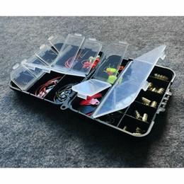 128 pezzi / set compartimenti attrezzo da pesca con ganci per attrezzi da pesca da
