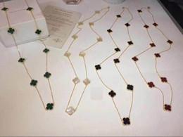 Canada dames punk dj 90cm long shell 10flower feuille pendentif chandail chaîne long collier avec boîte livraison gratuite Offre