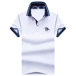 2020 menino polos Poloshirt sólido Polo Homens Luxo Polo curto Básico Top Cotton Polos For Boys Marca Designer Polo Homme FE035 da luva dos homens desconto menino polos