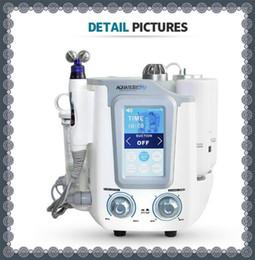 Máquina de belleza multifunción online-Económico 3 en 1 Piel Hidrógeno-agua Galvanic Microdermabrasion Machine Multifunción Equipo facial Belleza limpia