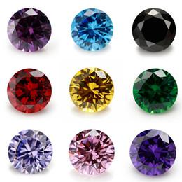 Máquinas de redondeo online-1000Pcs Cubic Zirconia Stone 5A Round Machine Cut CZ Stone Brithstone Crystal Floating Charms Fit Memory Locket Loose Diamonds Gems 5.0 MM