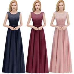Верхняя одежда онлайн-Дешевые реальные изображения совок шеи платья для подружек невесты шифоновые кружева топ Ruched рукавов выпускного вечера вечернее платье торжественная одежда