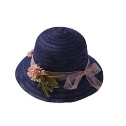 Кружева Летние Шляпы Солнца Для Женщин Новая Мода Сомбреро Широкие Поля Пляжная Боковая Шапка Флоппи-Соломенная Шляпа для Девочек Детей от