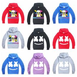vêtements de musique Promotion 9 conception adolescents adolescents garçons coton sweats de bonne qualité impression Marshmello Dj Music sweats vêtements 6-14 ans enfants à capuchon cavaliers